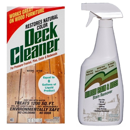 Outdoor Cleaning Sale, Deck Cleaner, Mildew Stain & Moss Stain Remover, Mildew, Moss, Deck, Fence, Split Rail, Outdoor Cleaning
